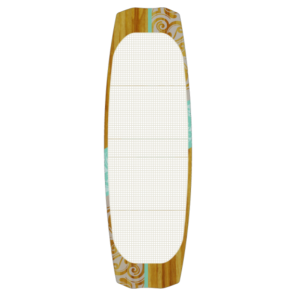 Kiteboard Woodboard Mutant Beam, a strapless twintip kiteboard for fun in different conditions.