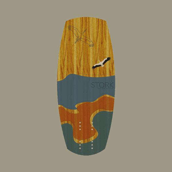 Woodboard Stork, ein Foil Kiteboard mit Holzkern