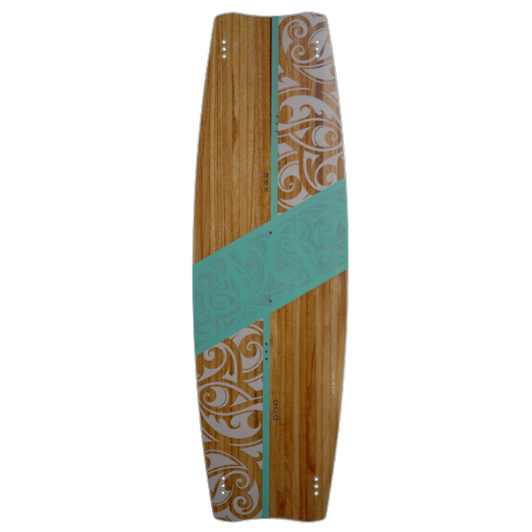 Kiteboard Woodboard Beam, a freeride twintip kiteboard for beginners and intermediate riders.