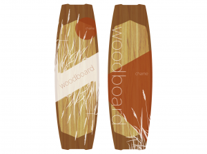 Woodboard CHAME Freeride Kiteboard