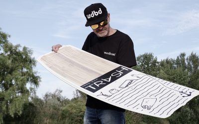 The brand new Woodboard TRASH – The ultimative Freestyle & Wakestyle kiteboard!