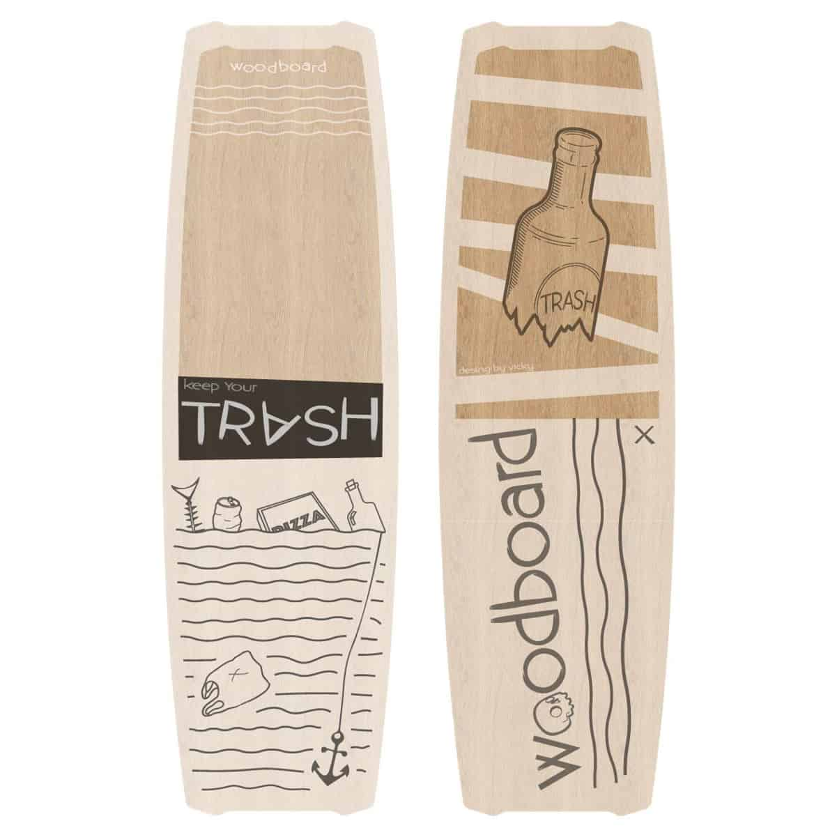 Woodboard Trash Freestyle Wakestyle Kiteboard