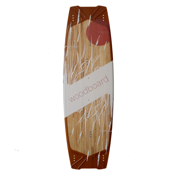 Woodboard Chame, an allround Freeride Twintip Kiteboard for hooked moves, Oldschool and Airstyle!
