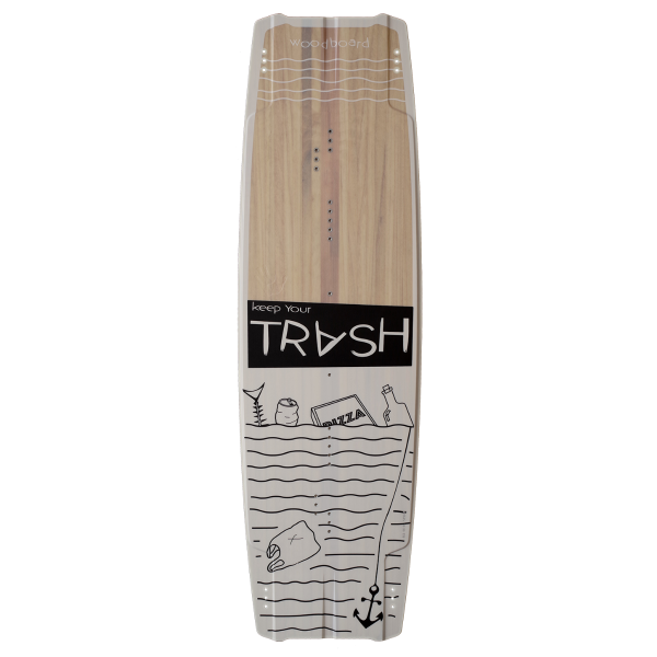 Kiteboard Woodboard Trash, a Freestyle Wakestyle Twintip for unhooked kitesurfing tricks!